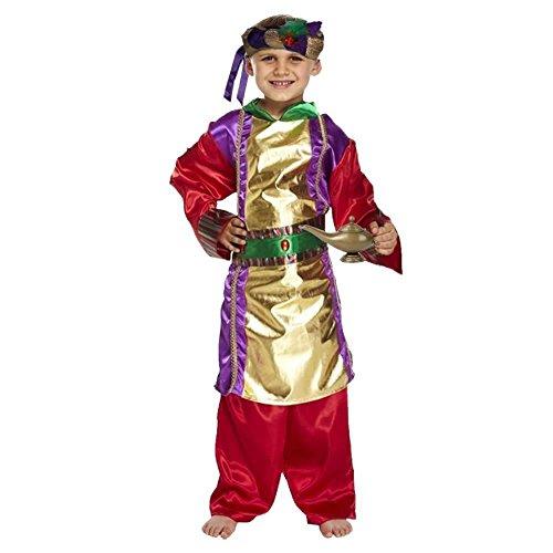 Disfraz infantil Aladdin Genie Gold & Purple Kids Book Week Fancy Dress [Grande]