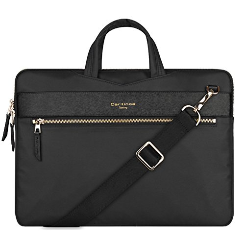 13 inch Laptop Bag, College Business Briefcase Laptop Sleeve Case 12-13.3 inch Laptop Shoulder Messenger Bag for Apple Macbook Air Pro/iPad/Dell ASUS Lenovo HP Acer Chromebook Ultrabook - Black