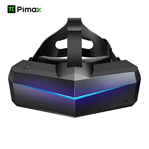 VR Headset, Pimax 5K Plus 120Hz Refresh Rate Virtual Reality Headset with Wide 200°FOV, Dual 2560x1440p RGB LCD Panels & 6 DOF Tracking, 1-Year Warranty, [Headset Only]