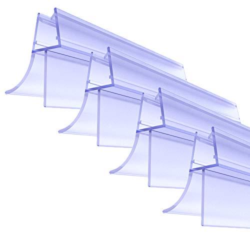 Premium Duschtür Dichtung 4 x 100 cm - Mit verlängerten Gummilippen für trockenen Boden im Bad - Glastür Duschdichtung für 6mm, 7mm, 8mm Glasdicke - Duschleiste für Duschkabine mit Wasserabweiser
