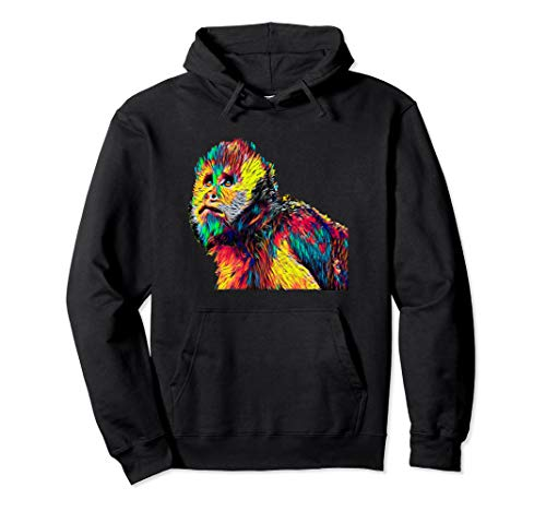 Capuchin Affe Farbig Pullover Hoodie
