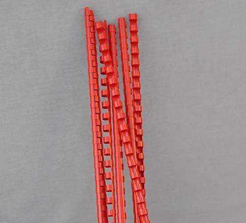 Peines de plástico para encuadernación - 10 mm de diámetro - hasta 65 hojas - Paquete de 100 10mm Diameter - Pack of 100 / Red: Amazon.es: Oficina y papelería