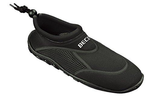 BECO Badeschuhe / Surfschuhe Unisex,Black-Silver-Power,40
