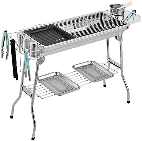 Recommended NEW before selling ☆ FLY MEN Grill Barbecue Outdoor BBQ Carbon Stainless Steel
