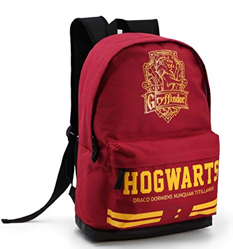 KARACTERMANIA Harry Potter Quidditch Gryffindor-Running HS Backpack Rucksack, 44 cm, 21 liters, Rot (Red)