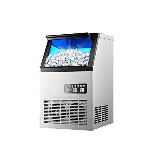 Bodentyp Eismaschine Blaulicht Desinfektion Leitungswasser Vollautomatische kleine Eismaschine, schnelles Auslaufen in 12 Minuten, mit LED-Anzeige, für den kühlen Sommer zu Hause und im Geschäft