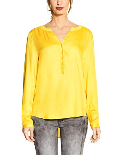 STREET ONE Damen Bamika Bluse, shiny yellow, 40