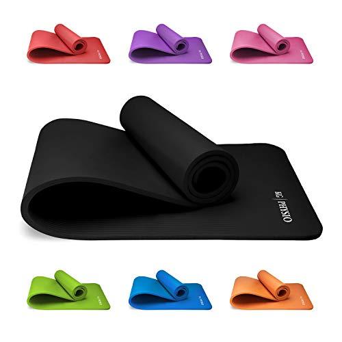 Tapis de Yoga Antidérapant KG   PHYSIO (1cm), Qualité Premium Tapis de Sol Fitness pour la Salle de Sport, Pilates ou à la Maison avec Bandoulière (à l'intérieur du tapis) 183cm x 60cm x 1cm (épais)