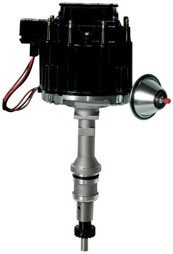 Proform 66969BK Vacuum Advance HEI Distributor with Steel Gear and Black Cap for Ford 221-302