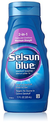 Selsun Blue Medicated Dandruff Shampoo/Conditioner 2-in-1 Treatment, 11 Ounce