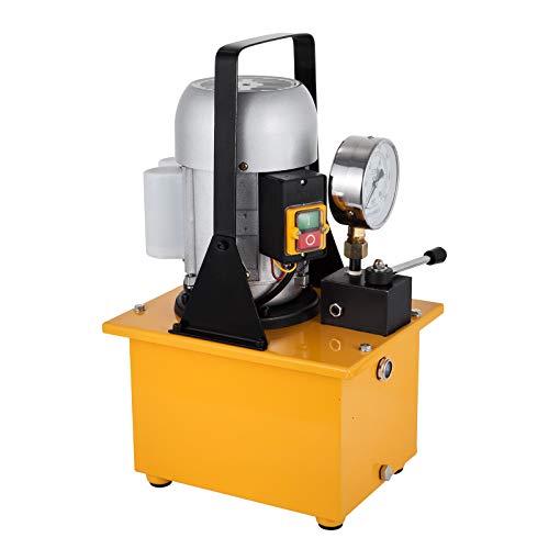 Mophorn Elektrische Hydraulikpumpe 10000 PSI einfachwirkende angetriebene Hydraulikpumpe Handventil Elektrisch angetriebene Hydraulikpumpe mit Magnetventil Öldruckpumpe (einfachwirkend)