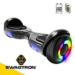Laser light-up wheels — light up, show off and ride on, with this hover board's 6. 5-Inch LED wheels light up to show the world your style. Powerfully robust — dual 250-watt motors power This two-wheel self-balancing board up to 7 mph, with enough to...