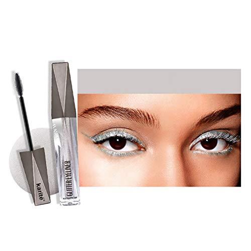 Shimmer Mascara für Augen Make-up, langlebige und wasserfeste Glitter Mascara Wischfeste farbige Augen Mascara