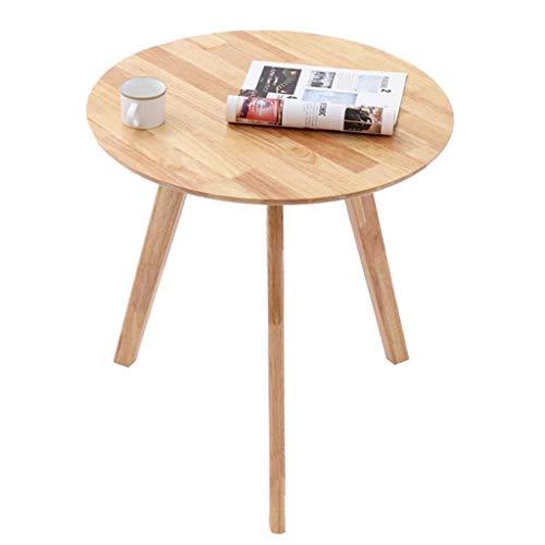 Dongy Las pequeñas mesas de café Sofá Lateral Final for los pequeños Espacios de la Esquina de Noche Mesa Redonda de Madera Cuadrada (Color del Color, Madera - Cuadrados)