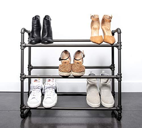 REAL HOME Innovations Modernes Schuhregal im Industrie-Stil, 3 Etagen, 66,5 cm B x 20,8 cm T x 61 cm...