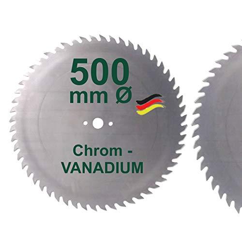 CV Sägeblatt 500 x 30 mm KV-A Wolfszahn Brennholzsägeblatt Kreissägeblatt Chromvanadium für Wippsäge und Brennholz 500mm