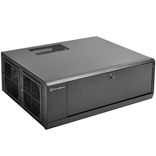 SilverStone Technology SST-GD10B-USA Home Theater Computer Case (HTPC) with Lockable Front Panel for ATX/Micro-ATX Motherboards GD10B-USA