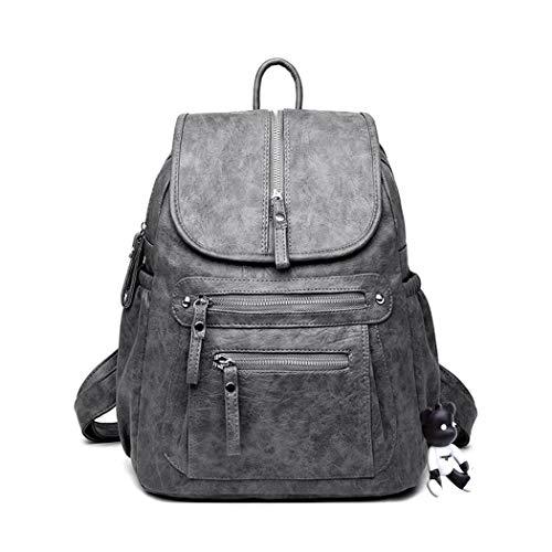 BUKESIYI Women's Backpack Handbags Rucksack Shoulder Bags PU Leather Mini Kawaii Anti-theft CCUK78226 Grey