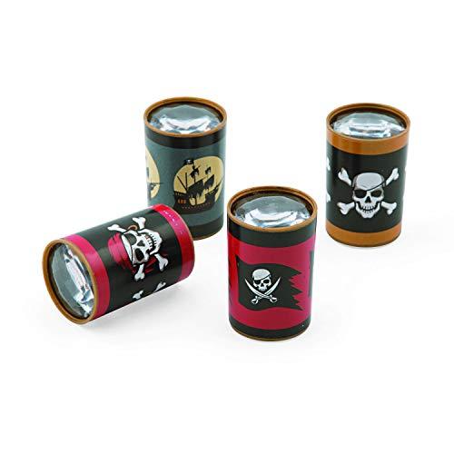 cama24com Kinder Piraten Party Prisma Fernrohr 12 Stück Kindergeburtstag Mitgebsel mit Palandi® Sticker