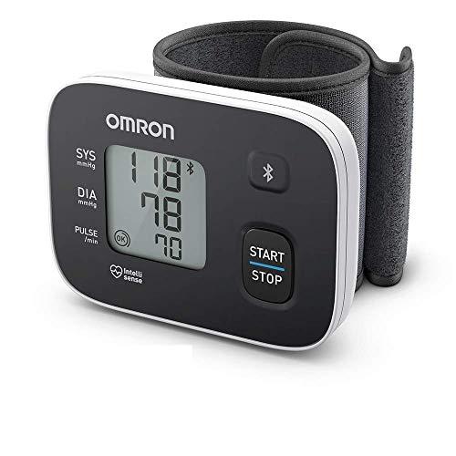 Omron RS3 Intelli IT Handgelenk-Blutdruckmessgerät mit Bluetooth-Funktion für zu Hause und unterwegs