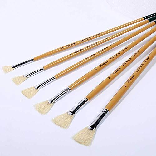 FairOnly Pincel de cerdas hervidas con forma de abanico, pluma de pintura...