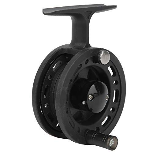Fournyaa Aparejos de pesca, rueda de pesca, carrete suave resistente al desgaste para pesca con mosca (6 cm)