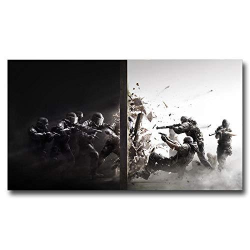 QZQ Rainbow Six Siege Special Forces Police PC Game Art Seda Poster Decoración Pintura 11x20 16x29 20x36 24x43 30x54 Pulgadas@16x29 Pulgadas