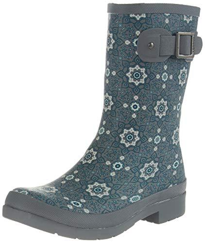 Chooka Eastlake Isa Mid Rain Boot, Tl, 5 Teal