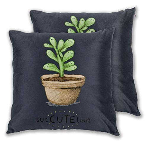 JONINOT 2 PCS 16'x16' SucCUTElent Throw Pillow Cushion Case,Inserts are Not Included
