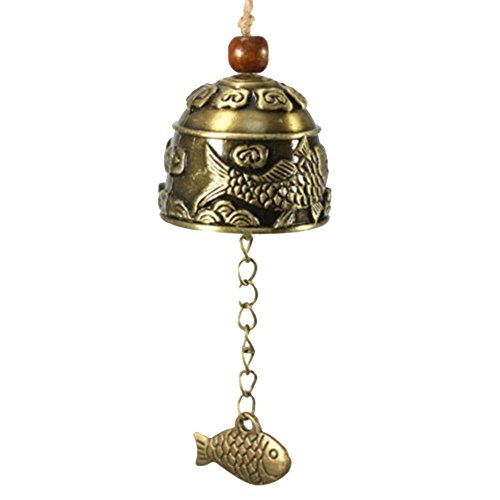 PU Ran Chinesischer Drache/Fisch Feng Shui Bell Segen Viel Glück Fortune zum Aufhängen Windspiel 1#
