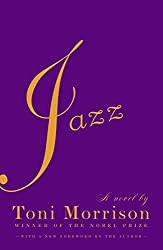 Jazz by Toni Morrison - yellow text on a purple background