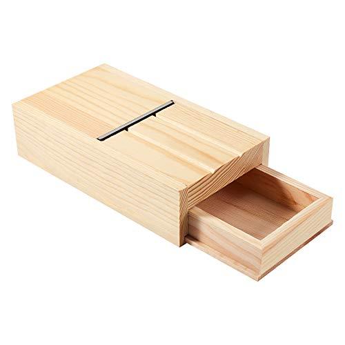 PandaHall Cortador de jabón Cajón Caja de madera Biselador de Jabón Herramienta de Recorte de Jabón para Jabones y Velas hechos a mano Recorte de BRICOLAJE