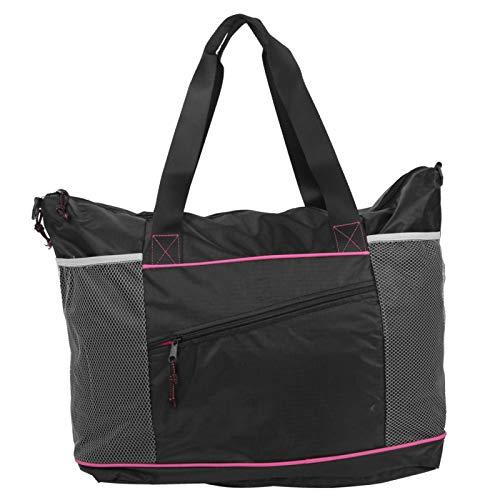 Bolsa de Yoga multifunción Bolsa de Hombro de Almacenamiento de poliéster Rejilla Malla Ropa de Fitness Paquete de Material