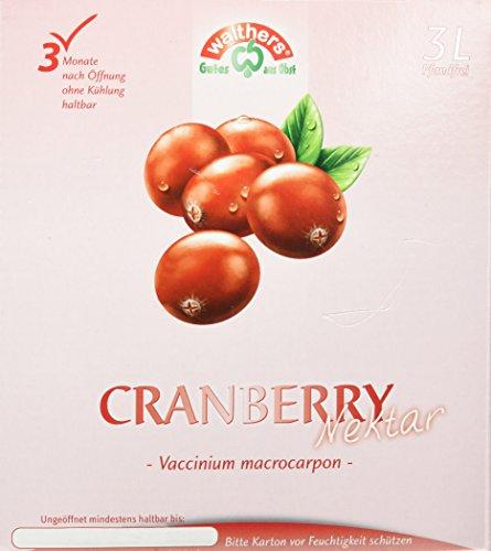 Walthers Cranberry Nektar, 1er Pack (1 x 3 l Saftbox)