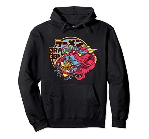 Drache isst chinesiche Nudeln Design Geschenkidee Pullover Hoodie