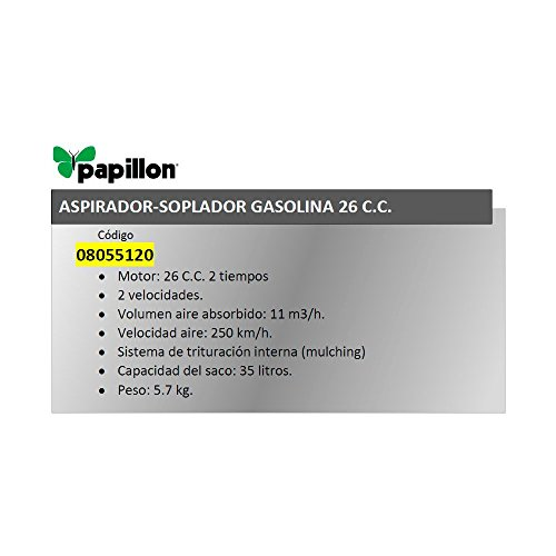 Aspirador Soplador Papillon Gasolina 26 cm³.