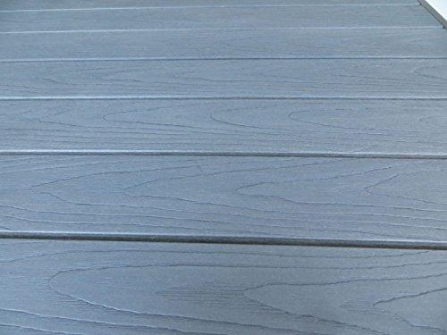 Pure Home & Garden Aluminium Gartentisch Fire Oblong mit Polywood Tischplatte, 100x70 cm absolut wetterfest, Silber aus…