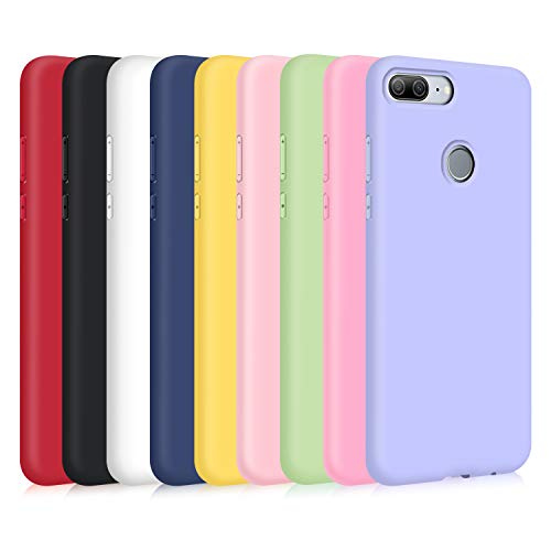 TVVT 9X Funda para Huawei Honor 9 Lite, Ultra Delgado Color Carcasa Premium Ultraligero Suave Silicona TPU Protectora Espalda Case Cover Anti-Rasguños Anti-Choque
