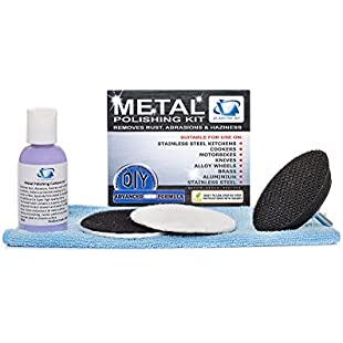 GLASS POLISH Metal and Stainless Steel Restoration Kit - RESTORE AND REMOVE LIGHT SCRATCHES, STAINS, RUST, OXIDATION WATER STAINS, DISCOLORATION:Hashflur