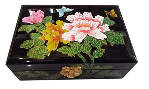 QULONG Caja de Madera lacada para Manualidades Caja de Reloj Caja de Pulsera Caja de Almacenamiento China Laca Pintada Día de la Madre, un Mejor Regalo para la Madre