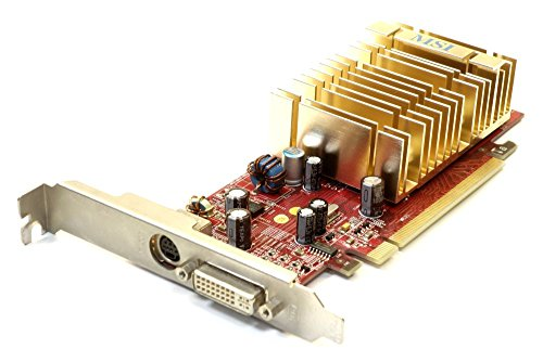 MSI ATI Radeon X1550 128MB DDR2 PCIe Graphics Card DVI RX1550-TD128EH MS-V068 (Zertifiziert und Generalüberholt)