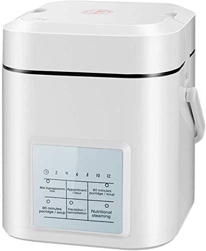 Mini Rice Cooker Faitout intelligente multi programmable 1.2L numérique alimentaire à vapeur faible enlèvement sucre grain Maker en acier inoxydable double pot intérieur instantané Arroceras