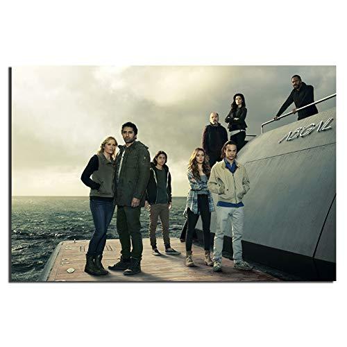 XZRDP Fear The Walking Dead Staffel 2 Poster Wandkunst Leinwanddruck für Wohnkultur TV-Serie Leinwandmalerei -20x30 IN No Frame