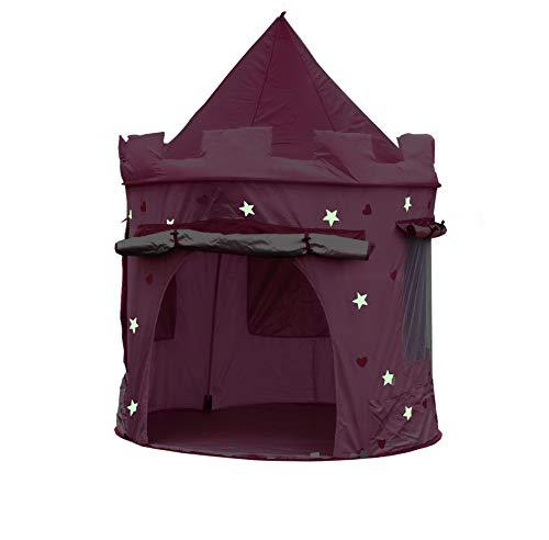 KIDDUS Tenda Casette Casa da Gioco Bambini Bambine Ragazze, Castello delle Principesse, Facile Montaggio Pop up, Interni ed Esterni. Effetto Fluorescente