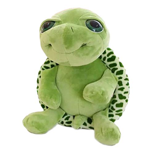 Gintdinpu Tortuga de Peluche de Juguete, súper Lindo Ojo Grande Tortuga Verde de Peluche de Juguete de Peluche de Juguete Suave Kawaii Tummy Turtle Doll Cojín Almohada 20cm