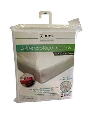Fomax Alèse/protège Matelas Anti-acarien et imperméable 140x190cm