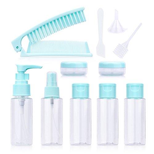 OFKPO 12 Pezzi Bottiglie di Viaggio Trasparente per Shampoo, Balsamo, Lozione, Articoli da Toeletta