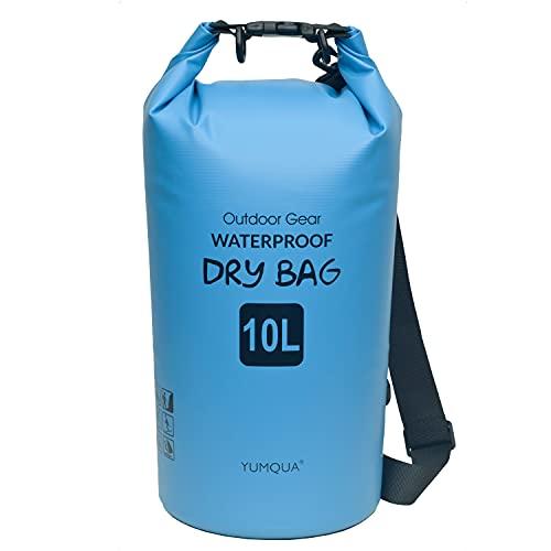 YUMQUA Bolsa Estanca Impermeable, Dry Bag 5L/10L/20L/30L, Bolsa Waterproof para Paseos en Bote, Kayak, Natación, Senderismo, Camping, Rafting, Pesca
