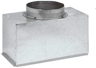 Plenum in lamiera d'acciaio zincata coibentato per bocchette e griglie lineari (sezione 300 x 200 diametro 100)