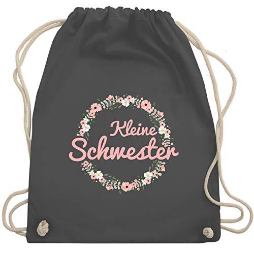 Shirtracer Schwester & Tante - Kleine Schwester - rosa - Unisize - Dunkelgrau - Geschenk - WM110 - Turnbeutel und Stoffbeutel aus Baumwolle